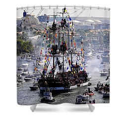 Gasparillas Wild Crew Shower Curtain by David Lee Thompson