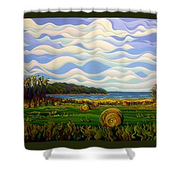 Gaspe's Grand Serenousphere Shower Curtain