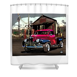 Gassed Up And Ready Shower Curtain