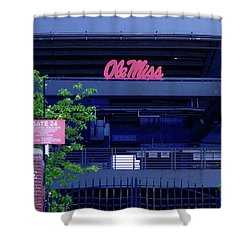 Gate 24 At The Ole Miss Stadium Shower Curtain