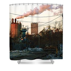 Gate 4 Shower Curtain by David Blank