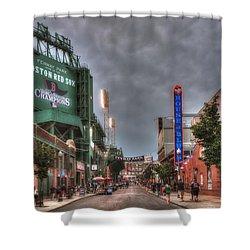 Gate E - Fenway Park Boston Shower Curtain by Joann Vitali