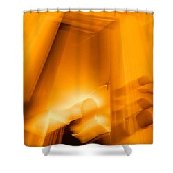 Gate Of The Golden Bass Shower Curtain by Christophe Ennis