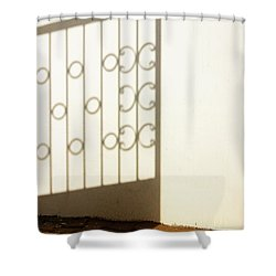 Gate Shadow Shower Curtain