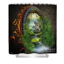 Gate To Another World Shower Curtain