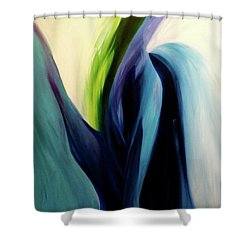 Shower Curtain featuring the painting Gate To The Garden  By Paul Pucciarelli by Iconic Images Art Gallery David Pucciarelli