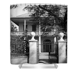 Gated Colonial Home Shower Curtain