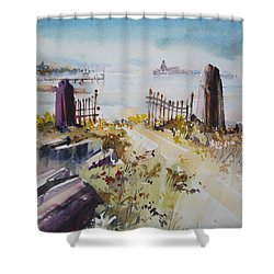 Gated Shore Shower Curtain