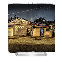 Shower Curtain featuring the photograph Gates Auto Repair by David Morefield