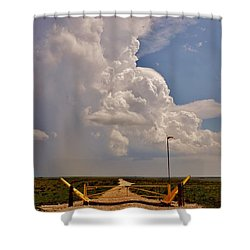 Shower Curtain featuring the photograph Gates Of Hail by Ed Sweeney