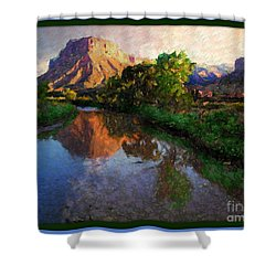 Gateway Colorado Mesa By River Shower Curtain by Annie Gibbons