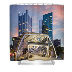 Shower Curtain featuring the photograph Gateway Station At Pittsburgh  by Emmanuel Panagiotakis