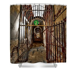 Gateway To Hell Shower Curtain by Evelina Kremsdorf