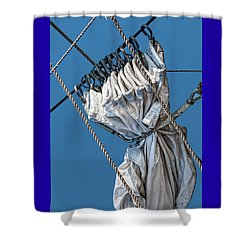 Gathered Sail Shower Curtain