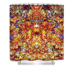 Gathering Of The Leaf Gods Shower Curtain