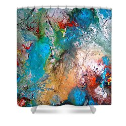 Gathering Shower Curtain by Pearlie Taylor