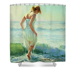 Shower Curtain featuring the painting Gathering Thoughts by Steve Henderson