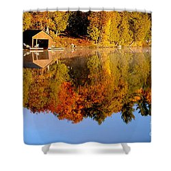 Gatineau Park Taylor Lake Shower Curtain by Rod Jellison