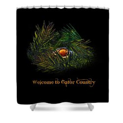 Gator Country  Shower Curtain