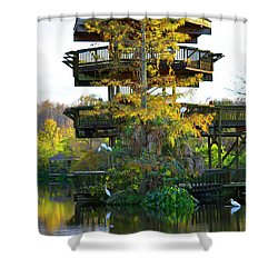 Gator Tower Shower Curtain