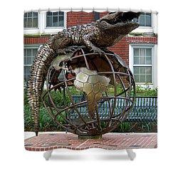 Gator Ubiquity Shower Curtain by D Hackett