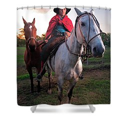 Gaucho Argentino Shower Curtain by Bernardo Galmarini