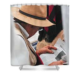 Gaucho Reading Shower Curtain