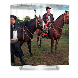 Gauchos Shower Curtain by Bernardo Galmarini