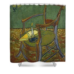 Shower Curtain featuring the painting Gauguin's Chair by Van Gogh