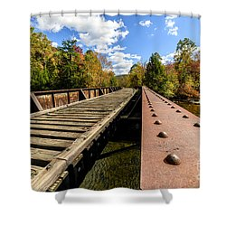 Gauley River Railroad Trestle Shower Curtain