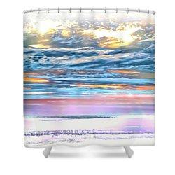 Shower Curtain featuring the photograph Gauzy Sunset by Walt Foegelle