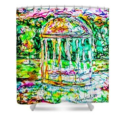 Gazebo Sunset Shower Curtain