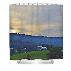 Gazing At Dusk Shower Curtain
