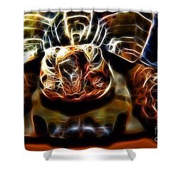 Gazing Turtle Shower Curtain by Mariola Bitner