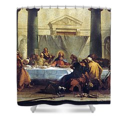 G.b. Tiepolo: Last Supper Shower Curtain by Granger