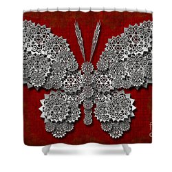 Gear Butterfly Shower Curtain