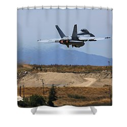 Gear Up Afterburner On Shower Curtain