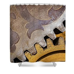 Gears Shower Curtain by Jae Mishra
