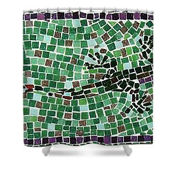 Shower Curtain featuring the ceramic art Gecko by Jamie Frier