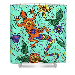 Gecko Jungle Shower Curtain