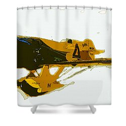 Gee Bee Model Z Shower Curtain by David Lee Thompson