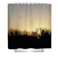 Shower Curtain featuring the photograph Geese At Sunrise by Kent Lorentzen