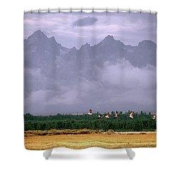 Geese, Grand Tetons Shower Curtain