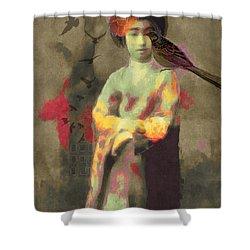 Geisha Girl Shower Curtain by Lisa Noneman