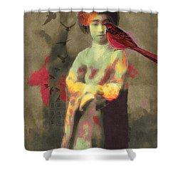 Geisha Shower Curtain by Lisa Noneman