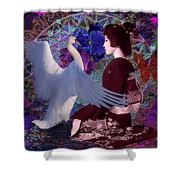 Geisha Swan Dance Shower Curtain