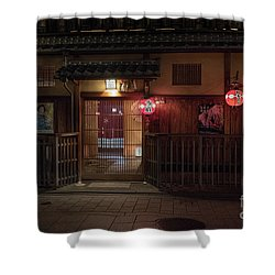 Geisha Tea House, Gion, Kyoto, Japan Shower Curtain