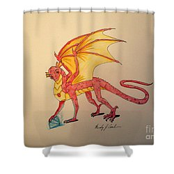Gem Hunter Dragon Shower Curtain