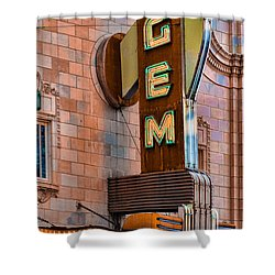 Gem Theater In Kansas City Shower Curtain