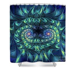 Shower Curtain featuring the digital art Gemini by Jutta Maria Pusl